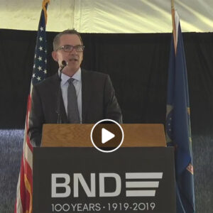 Gary Peterson at BND 100th Anniversary Celebration