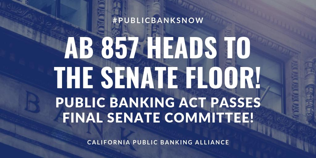 AB 857 heads to senate floor
