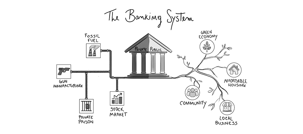 banking system illustration Chiara Di Martino