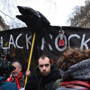 BlackRock protest Paris, France, Jeanne Menjoulet